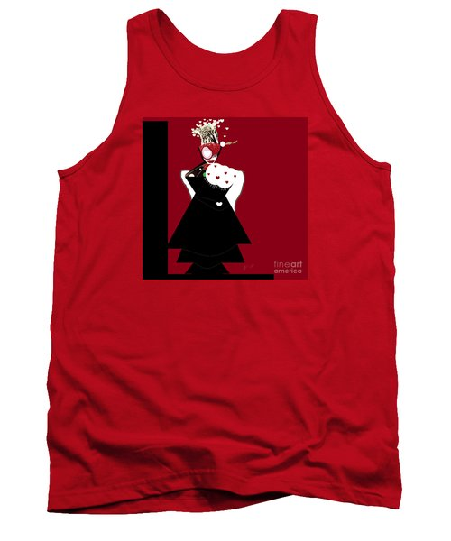 Queen Of Hearts Tank Top by Ann Calvo