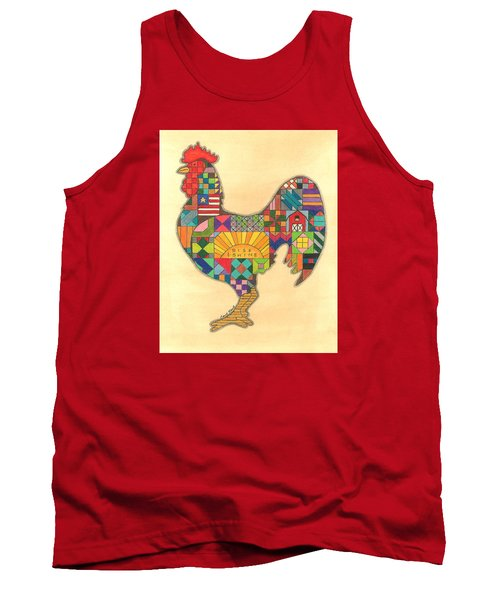 Quilted Rooster Tank Top