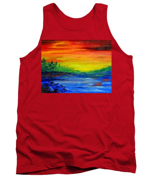 Rainbow Back Waters Tank Top