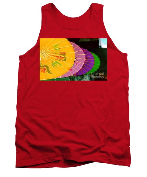 Tank Top featuring the photograph New Orleans Rainbowellas by Michael Hoard