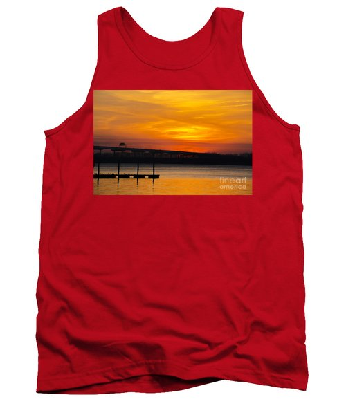 Tank Top featuring the photograph Orange Blaze by Dale Powell