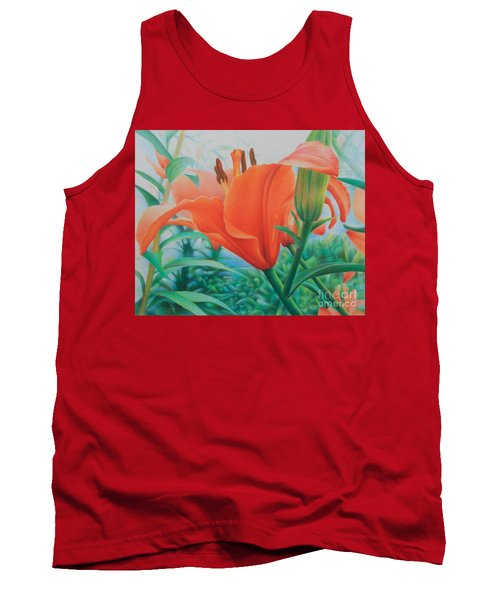 Tank Top featuring the painting Reach For The Skies by Pamela Clements