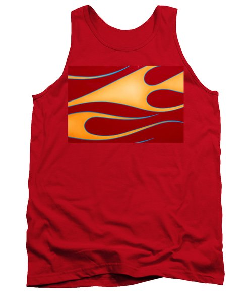 Tank Top featuring the photograph Red And Gold by Joe Kozlowski