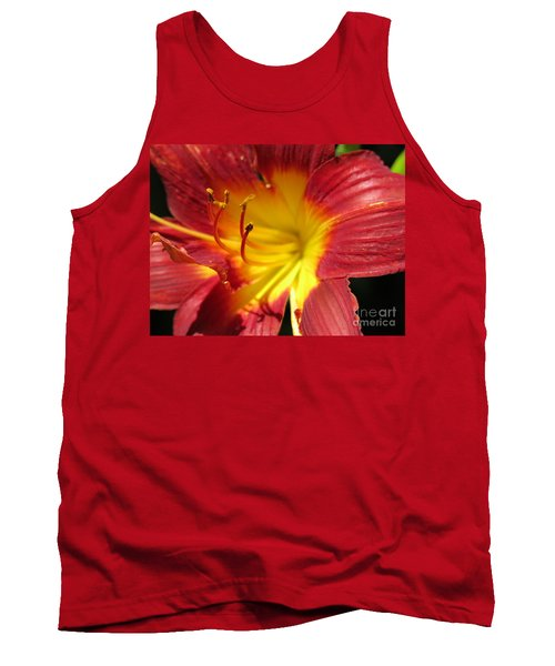 Red And Yellow Day Lily Tank Top