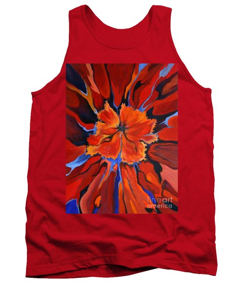Tank Top featuring the painting Red Bloom by Alison Caltrider