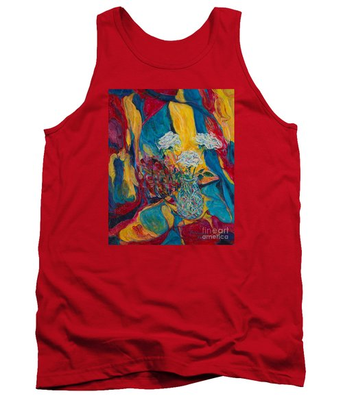 Red Blue Yellow Tank Top by Anna Yurasovsky