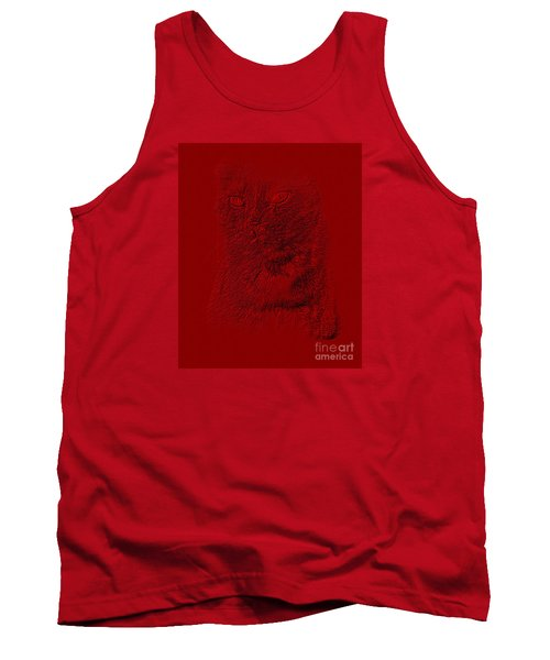 Red Cat Collection. Special... Tank Top by Oksana Semenchenko