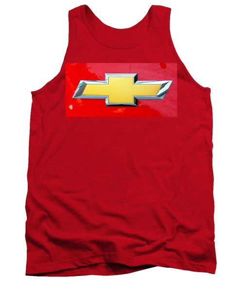 Red Chevy Bowtie Tank Top