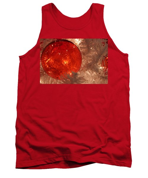 Red Christmas Ornament Tank Top by Lynn Sprowl
