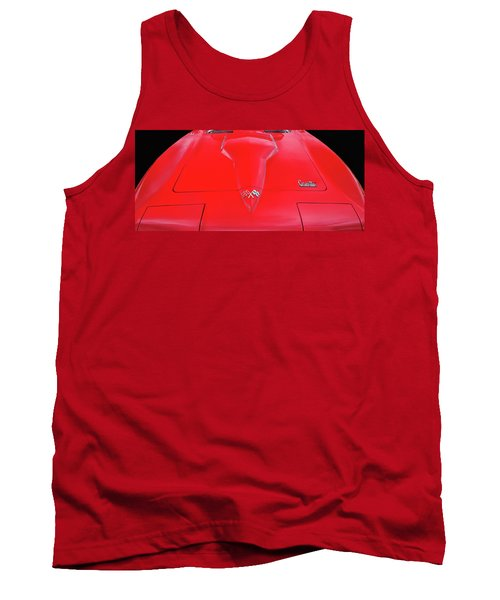 Tank Top featuring the photograph Red Corvette by Dave Mills