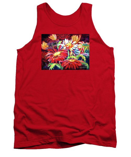 Red Floral Mishmash Tank Top