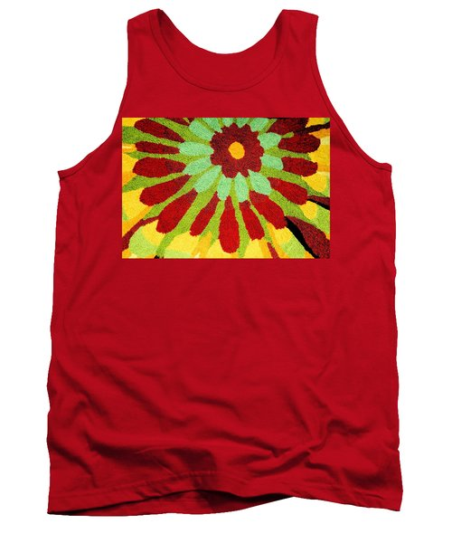 Tank Top featuring the photograph Red Flower Rug by Janette Boyd