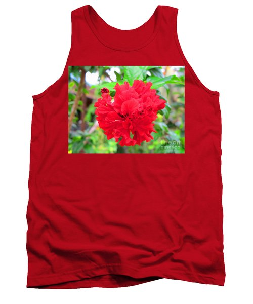 Red Flower Tank Top by Sergey Lukashin
