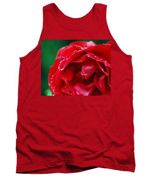 Red Flower Wet Tank Top by Matt Harang