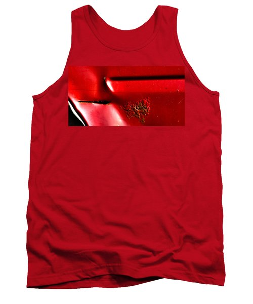 Red Gash Tank Top