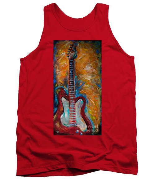 Red Guitar Tank Top