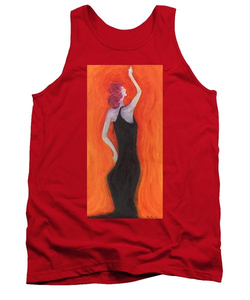 Red Haired Lady Tank Top