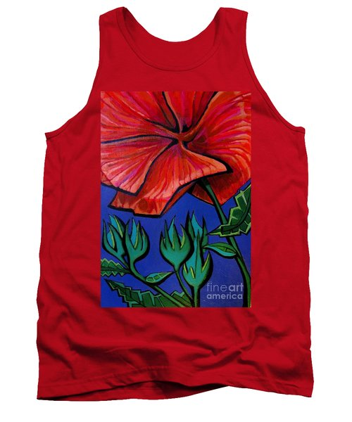 Red Ibiscus - Botanical Tank Top