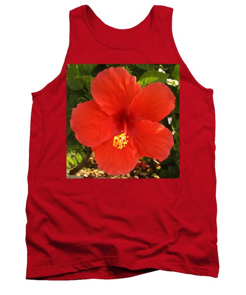 Red Pansy Tank Top