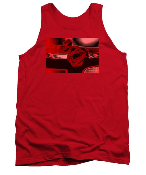 Red Passion. Rose Tank Top by Oksana Semenchenko