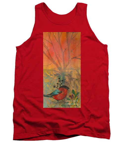 Red Peace Bird Tank Top