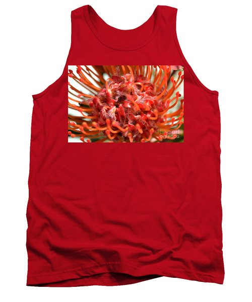 Red Pincushion Close Up Tank Top
