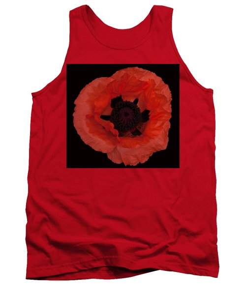 Red Poppy Tank Top by Susan Rovira