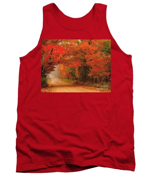 Red Red Autumn Tank Top by Terri Gostola