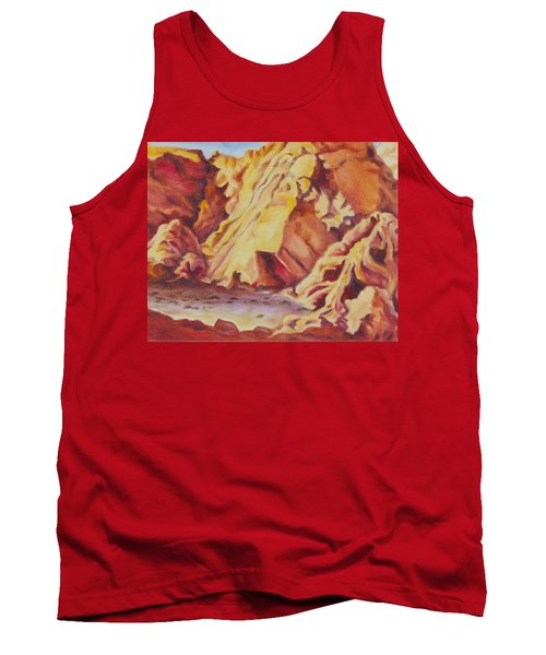 Tank Top featuring the painting Red Rocks by Michele Myers