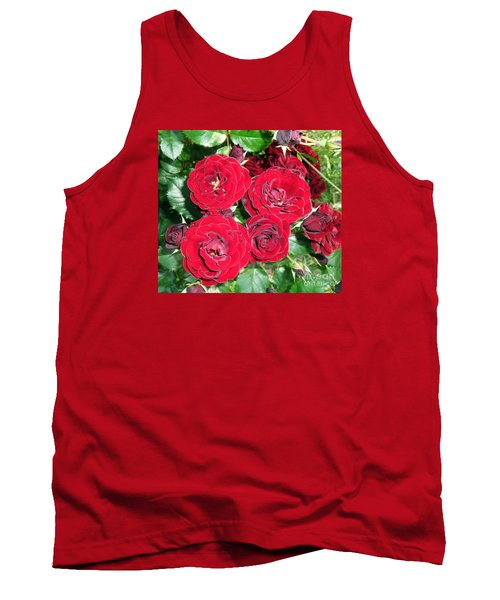 Tank Top featuring the photograph Red Roses by Vesna Martinjak