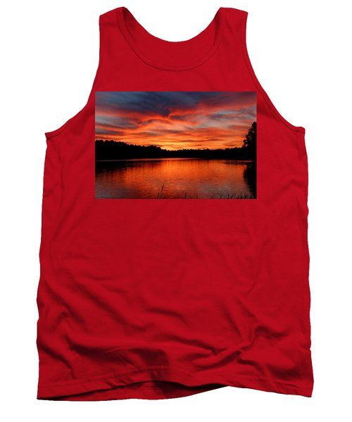 Red Sunset Reflections Tank Top