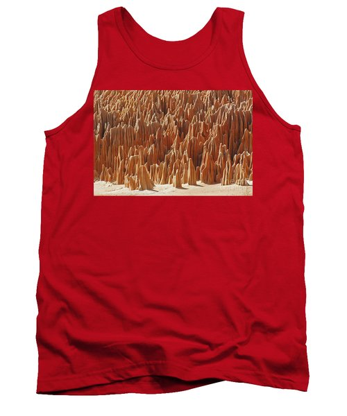 red Tsingy Madagascar 1 Tank Top by Rudi Prott