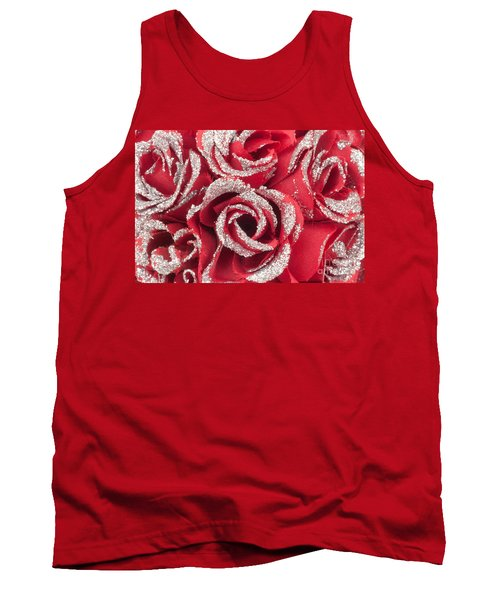 Tank Top featuring the photograph Red Valentines Day Roses by Gunter Nezhoda