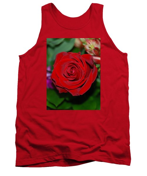 Red Velvet Rose Tank Top by Connie Fox
