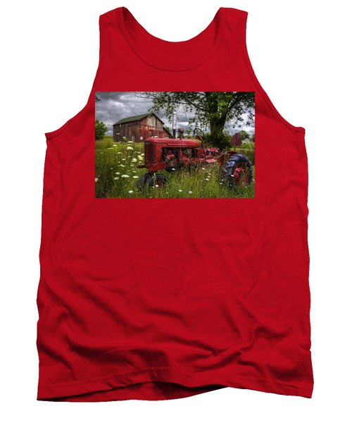 Reds In The Pasture Tank Top