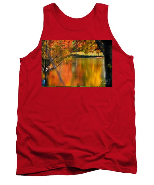 Reflection  Of My Thoughts  Autumn  Reflections Tank Top by Peggy Franz