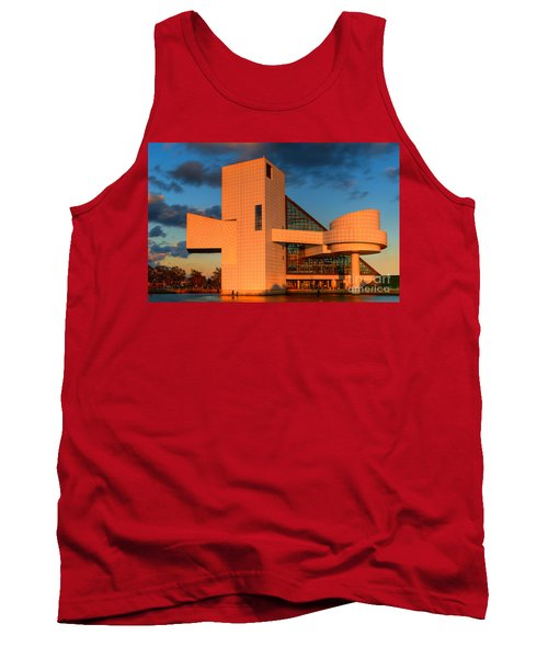Tank Top featuring the photograph Rock And Roll Hall Of Fame by Jerry Fornarotto