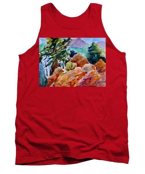 Rocks Near Red Feather Tank Top