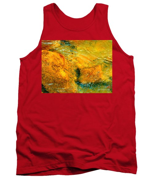 Tank Top featuring the photograph Rocks Under The Stream By Christopher Shellhammer by Christopher Shellhammer