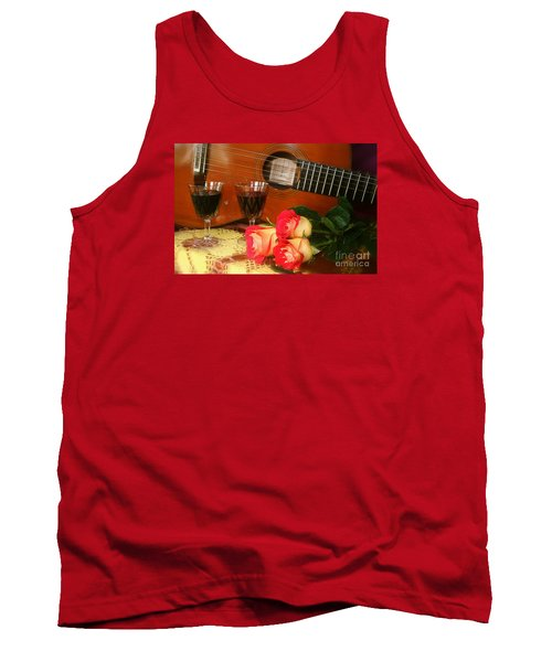 Guitar 'n Roses Tank Top by The Art of Alice Terrill
