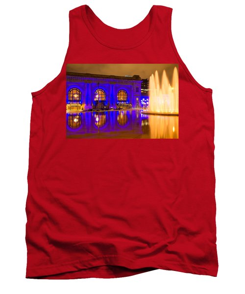 Royal Blue Reflections Union Station Tank Top
