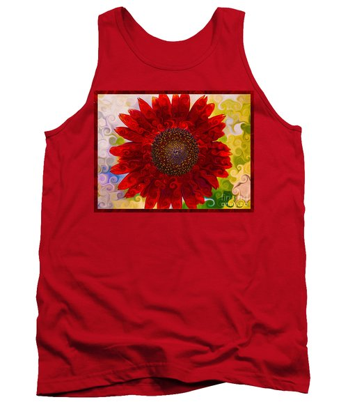 Royal Red Sunflower Tank Top