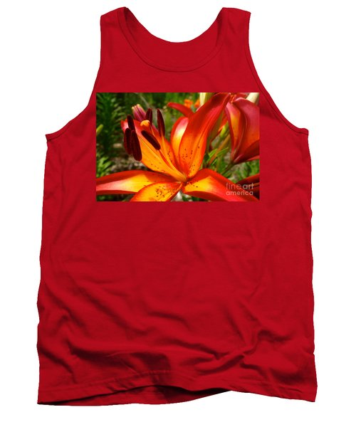 Royal Sunset Lily Tank Top by Jacqueline Athmann