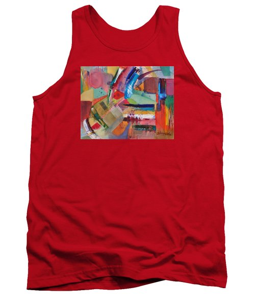 Tank Top featuring the painting Rugged Strokes by Jason Williamson