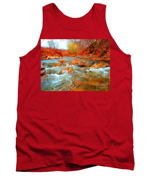 Tank Top featuring the photograph Running Creek 2 By Christopher Shellhammer by Christopher Shellhammer