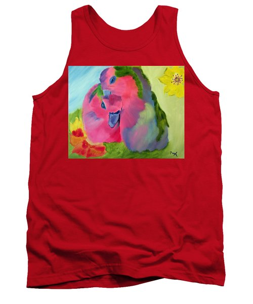 Tank Top featuring the painting Safe And Sound by Meryl Goudey