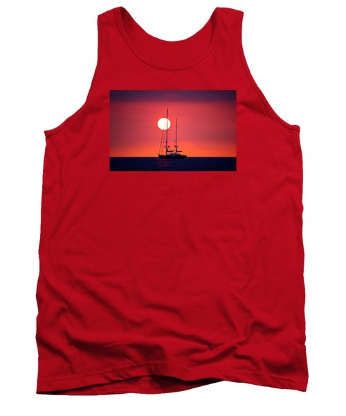 Sailboat Sunset Tank Top by Venetia Featherstone-Witty