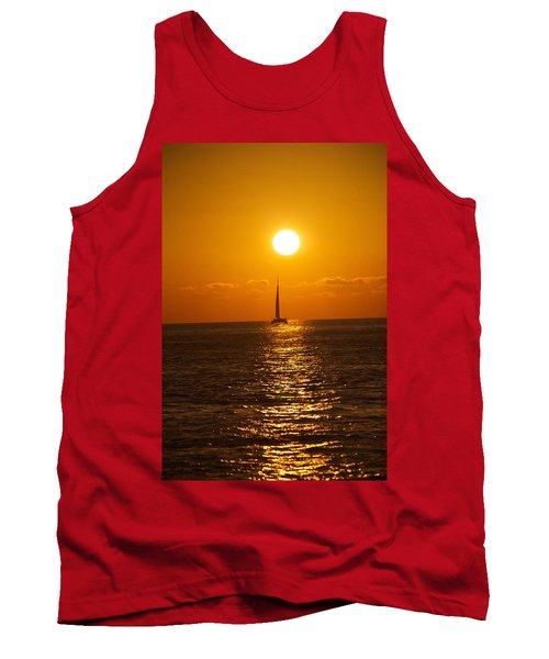 Sailing At Sunset Tank Top
