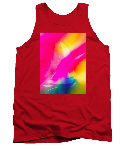 Tank Top featuring the digital art Sailing The Cosmos by Frank Bright