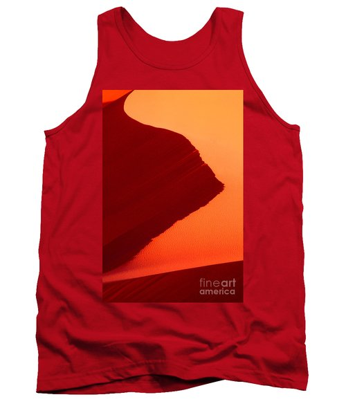 Tank Top featuring the photograph Sand Dune Curves Coral Pink Sand Dunes Arizona by Dave Welling